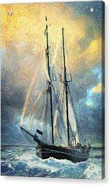 Sail Away To Avalon Acrylic Print by Taylan Apukovska