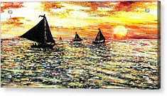 Acrylic Print featuring the painting Sail Away With Me by Shana Rowe Jackson