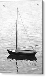 Sail Boat In Maine Acrylic Print by Mike McGlothlen