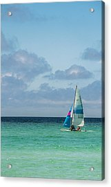 Sail Boat On The Ocean Acrylic Print by Shelby  Young