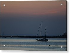 Sail Boat Port Jefferson New York Acrylic Print