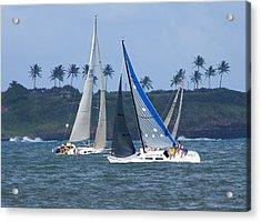 Sail Boat Race Acrylic Print