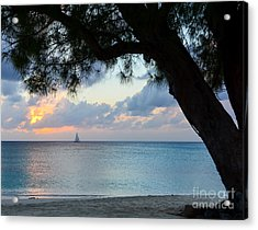 Sail Into The Sunset Acrylic Print by Karen English