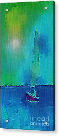 Acrylic Print featuring the digital art Sail On by Holly Martinson