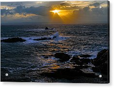 Sail Rock Sunrise Acrylic Print by Marty Saccone