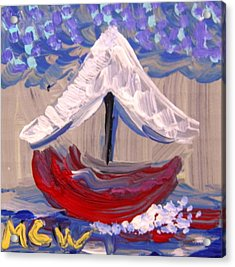 Acrylic Print featuring the painting Sail Travel by Mary Carol Williams