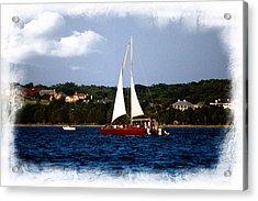Acrylic Print featuring the photograph Sailboat At Lake Ray Hubbard by Kathy Churchman