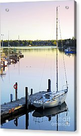 Sailboat At Sunrise Acrylic Print by Elena Elisseeva