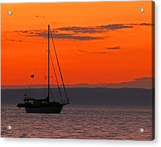 Sailboat At Sunset Acrylic Print by Marcia Socolik