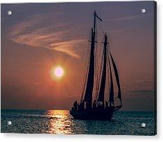 Sailboat At Sunset Acrylic Print