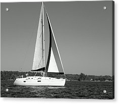 Sailboat Black And White Acrylic Print