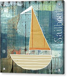 Sailboat Collage Acrylic Print