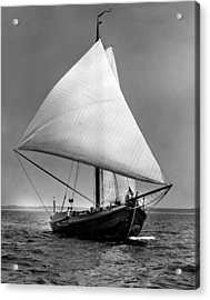 Sailboat Coming Into View Acrylic Print by Retro Images Archive