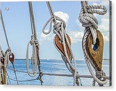 Sailboat Deadeyes 2 Acrylic Print by Leigh Anne Meeks