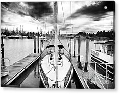 Sailboat Docked Acrylic Print by John Rizzuto
