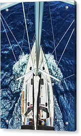 Sailboat From Above Acrylic Print by Mbbirdy