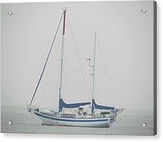 Sailboat In Fog Acrylic Print