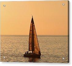 Sailboat In Hawaii Acrylic Print by Kim Hojnacki