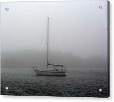 Sailboat In The Fog Acrylic Print by Dan Williams