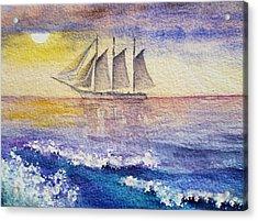Sailboat In The Ocean Acrylic Print by Irina Sztukowski