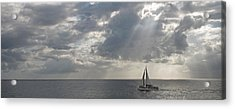 Sailboat In The Sea, Negril, Jamaica Acrylic Print