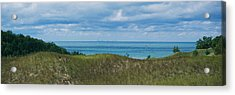 Sailboat In Water, Indiana Dunes State Acrylic Print by Panoramic Images