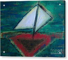 Sailboat Acrylic Print by Jacqueline McReynolds