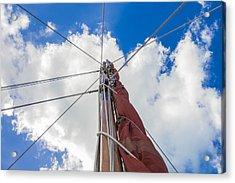 Sailboat Mast 1 Acrylic Print by Leigh Anne Meeks
