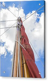 Acrylic Print featuring the photograph Sailboat Mast 2 by Leigh Anne Meeks