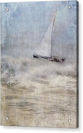 Sailboat On High Seas Acrylic Print