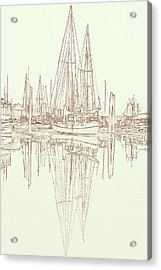 Acrylic Print featuring the photograph Sailboat On Liberty Bay by Greg Reed