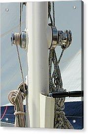 Sailboat Parts Close Up Acrylic Print