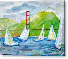 Sailboat Race At The Golden Gate Acrylic Print