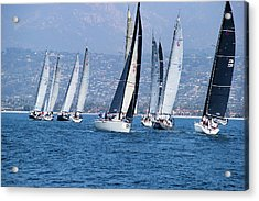 Sailboat Race In The Pacific Ocean Acrylic Print