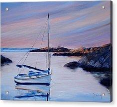 Sailboat Reflections I Acrylic Print by Donna Tuten