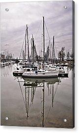 Sailboat Row Acrylic Print by Greg Jackson