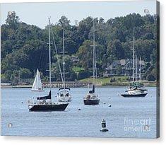 Sailboat Serenity Acrylic Print by Debbie Nester