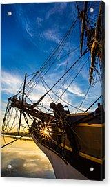 Sailboat Sunrise Acrylic Print by Robert Bynum