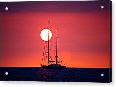 Sailboat Sunset Acrylic Print