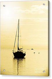 Sailboat With Sunglow Acrylic Print