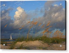 Sailboat Wrightsville Beach North Carolina  Acrylic Print by Mountains to the Sea Photo