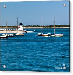 Sailboats And Brant Point Lighthouse Nantucket Acrylic Print by Michelle Wiarda