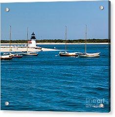 Sailboats And Brant Point Lighthouse Nantucket Acrylic Print