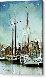 Sailboats Acrylic Print by Annie Snel