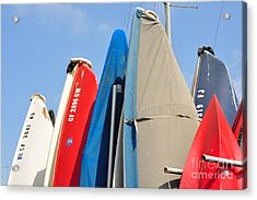Acrylic Print featuring the photograph Sailboats At Rest by Vinnie Oakes