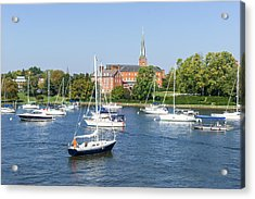 Sailboats By Charles Carroll House Acrylic Print by Charles Kraus