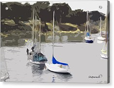 Sailboats Acrylic Print by Christopher Bage