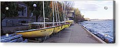 Sailboats In A Row, University Acrylic Print by Panoramic Images