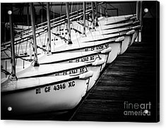 Sailboats In Newport Beach California Picture Acrylic Print by Paul Velgos