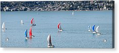 Sailboats On San Francisco Bay Acrylic Print by Panoramic Images